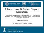 A Fresh Look At Online Dispute Resolution