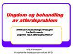 Tore Andreassen Prosjektleder Institusjonsprosjektet (BFD)