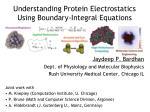 Understanding Protein Electrostatics Using Boundary-Integral Equations