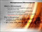 Microprocessor/Microcomputer