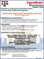Drilling Organization Houston, Texas Engineering / Engineering Technology Students