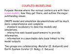 COUPLED MODELING