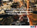 Atractivitatea Romaniei pentru investitii straine directe si investitii de portofoliu