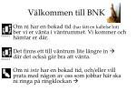 Välkommen till BNK!