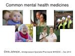 Common mental health medicines