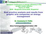Best practice analysis and results from graphic arts companies on energy management