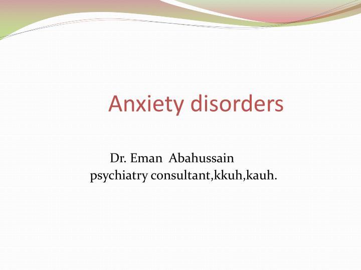 anxiety disorders n.