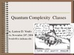 Quantum Complexity Classes