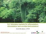 5.6. Voluntary markets for afforestation, reforestation and avoided deforestation