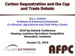Carbon Sequestration and the Cap and Trade Debate