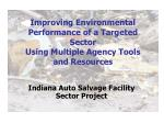 Indiana Auto Salvage Facility Sector Project
