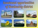 Investment opportunities of Novobuzkiy district