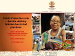 MR T P MTHETHWA CHIEF EXECUTIVE OFFICER Public Protector SA IMFO CONFERENCE 2 October 2013