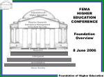 Foundation of Higher Education