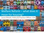 Welfare Reform – what does it mean for housing?