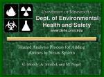 U NIVERSITY OF M INNESOTA Dept. of Environmental Health and Safety dehs.umn