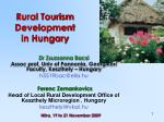Rural Tourism Development in Hungary
