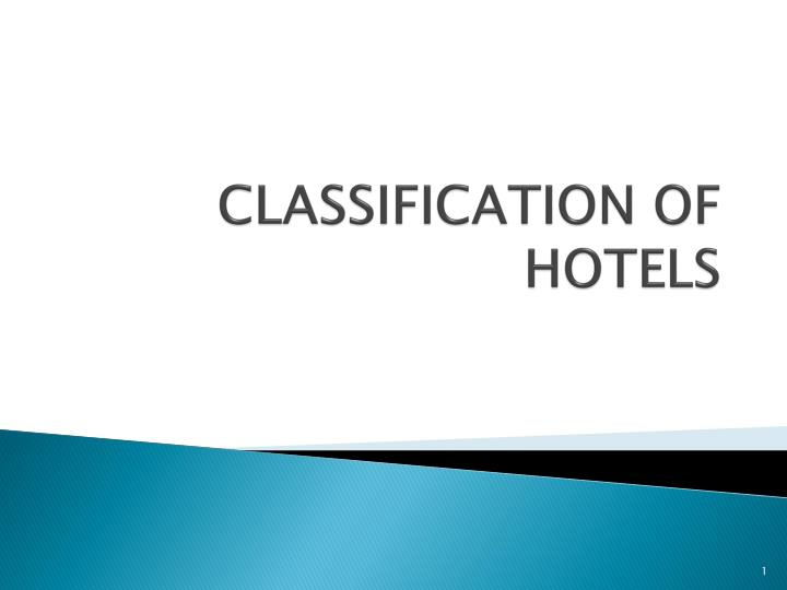 classification of hotels n.