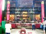 Conflict Constructions and Conflict Management in Families: The Case of Urban Chinese Malaysians