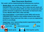 New Classroom Routines