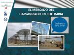 EL MERCADO DEL  GALVANIZADO EN COLOMBIA