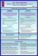 CLL Trials Newsletter ADMIRE, ARCTIC, CLL207, COSMIC, CLL201, CHOP-OR, RIAltO, CLL210 and RESPeCT