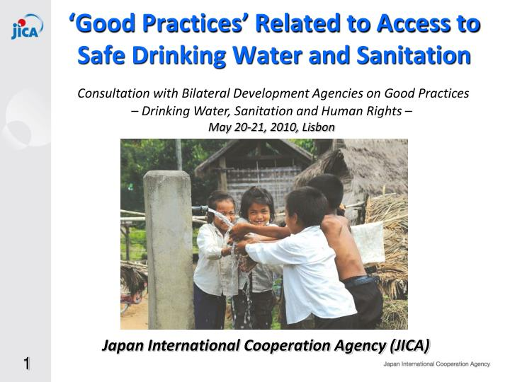 good practices related to access to safe drinking water and sanitation n.