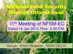 National Food Security Mission Uttarakhand