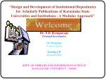 Dr. T.D. Kemparaju Principal Investigator Dr. Ramesha Co-Investigator Suresha GP Project Fellow