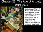 Chapter 28: The Age of Anxiety 1919-1939