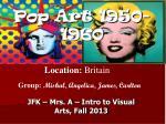 Pop Art 1950-1960
