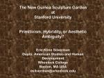 The New Guinea Sculpture Garden at Stanford University