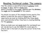Reading Technical codes : The camera .