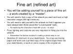 Fine art (refined art)