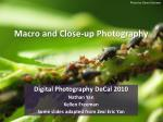 Macro and Close-up Photography