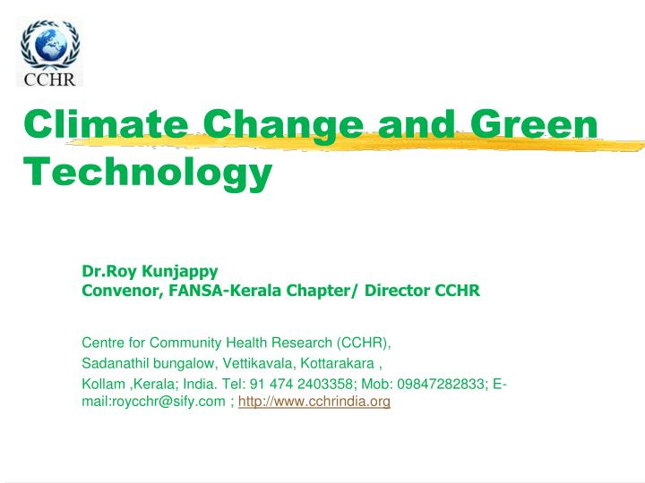climate change and green technology n.