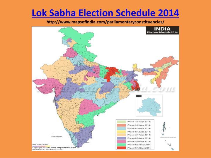 PPT - Lok Sabha Election Schedule 2014 mapsofindia ... Mapsofindia Com on