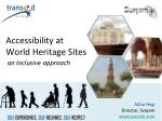 Accessibility at World Heritage Sites