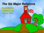 The Six Major Religions
