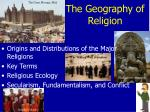 The Geography of Religion