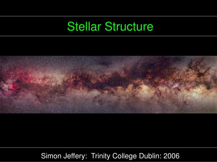 stellar structure n.