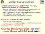 WIEN2k- hardware/software