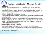 Xinxiang Huaxi Sanitary Materials Co.,Ltd