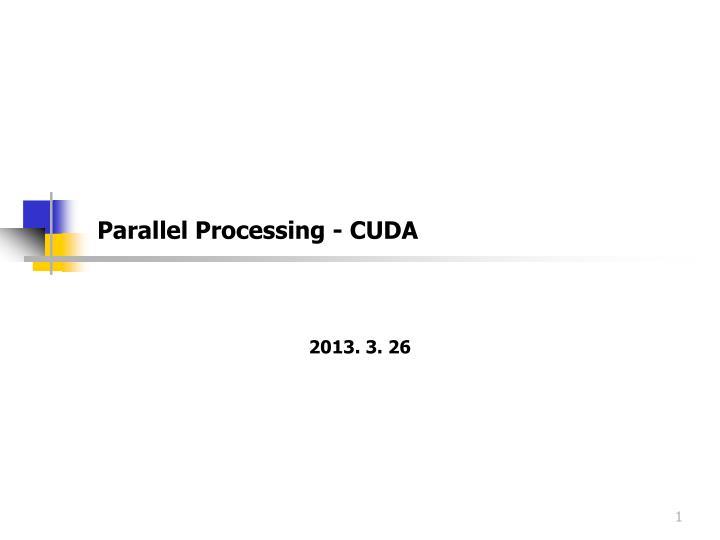 parallel processing cuda n.