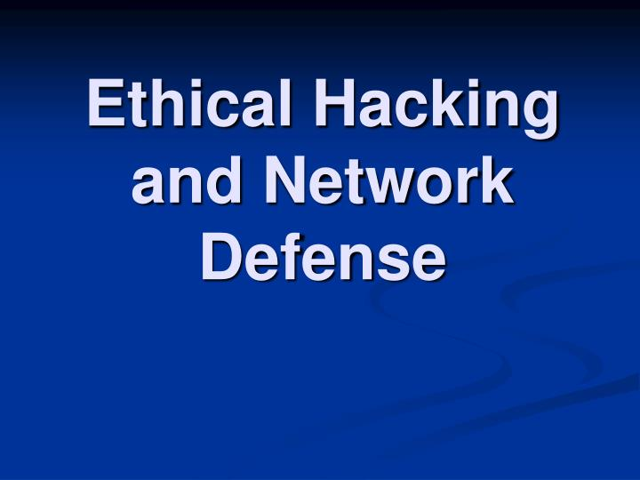 ethical hacking and network defense n.