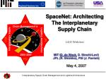 MIT ( O. de Weck , D. Simchi-Levi) JPL (R. Shishko), PSI (J. Parrish) May 4, 2007