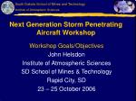 Next Generation Storm Penetrating Aircraft Workshop