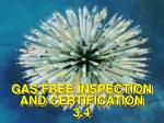 GAS FREE INSPECTION AND CERTIFICATION 3.4