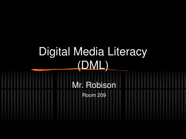 digital media literacy dml n.