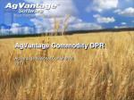 AgVantage Commodity DPR